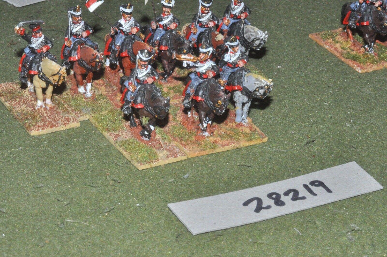 25mm napoleónicas ruso-Hussars 9 figuras-CAV (28219)
