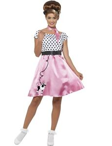 Image Is Loading Womens Poodle Skirt Costume Grease 50s Polka Dot
