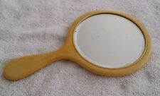 Vintage Art Deco Hand Mirror Bakelite with Beveled Glass
