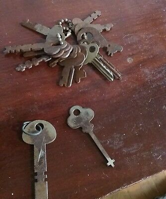 Antiqued Silver Skeleton Keys 6pcs