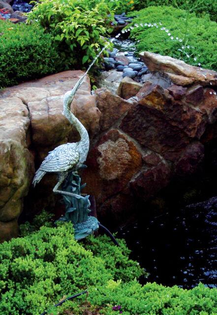 Spitting Pond Cranes: Beckett Decor Calling Crane Pond Art Fountain For Sale