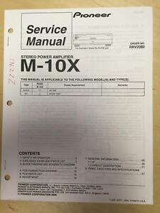 pioneer service manual for the m 10x power amplifier amp mp ebay rh ebay co uk Pioneer 980 Amp M Pioneer M 91