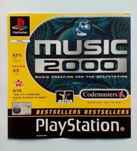 * Incrustation Avant Seulement * Musique 2000 Incrustation Avant Ps1 Psone Playstation-afficher Le Titre D'origine Iy5h4ysn-07185917-922153707