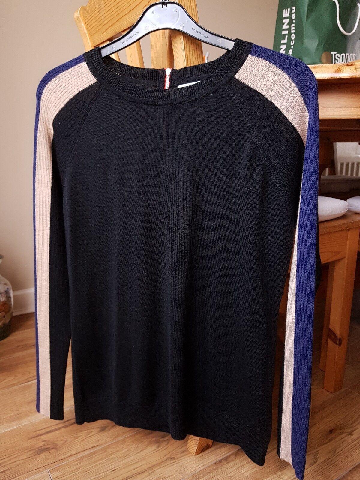 Great Looking 'Clements Ribeiro' Ladies Pure Merino Wool Top.Größe UK14 (L, EU40)