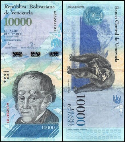 VENEZUELA BOLIVARES NEW UNC 5 X 100000 10000 5000 LOT 20 PCS Total 20000