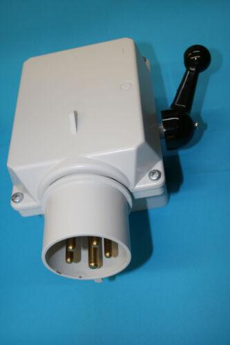 à 15 KW gussgekapselt 32 A Moteur Interrupteur Périphériques connecteur Elektra 46657