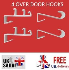 OVER DOOR HOOKS Hanger Clothes Bathroom Towel Hanging Coat Holder Plastic Tool