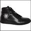 Versus Versace negro de cuero de Cabeza de León para Hombre High Top Sneakers Size 42 Reino Unido 8