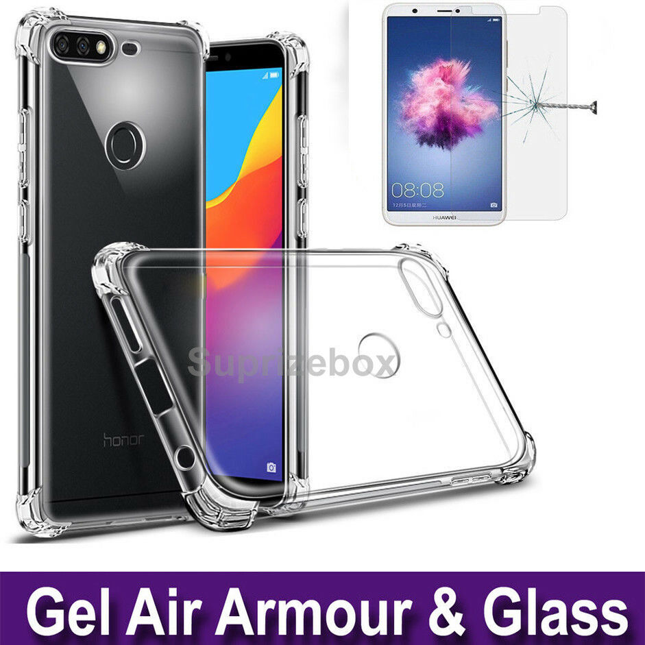 low priced d1753 c05b5 Details about Case For Huawei P Smart 360° Silicone Gel Shockproof Cover &  Tempered Glass