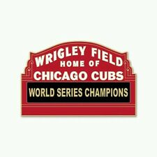 CHICAGO CUBS COLLECTOR PIN WRIGLEY FIELD WORLD SERIES CHAMPIONS NEW ITEM!!