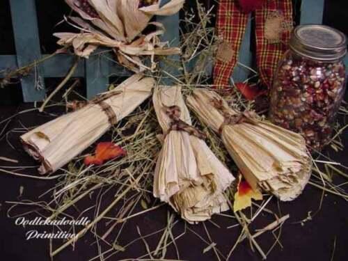 Details about  /Primitive Prairie Dried Corn Husks Harvest Bowl Filler Fall Autumn Cu board Tuck