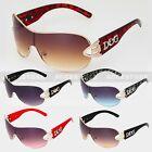 DG Eyewear Womens Mens Shield Designer Sunglasses Shades Fashion Retro Wrap