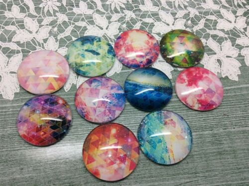 Sacred Geometry glass cabochon pictures 16mm diameter earring pendant charm