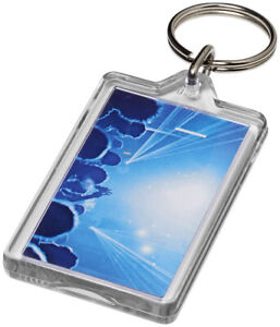 Classic Insert Key Rings S5 clear acrylic fobs made in the UK 40x32mm inserts