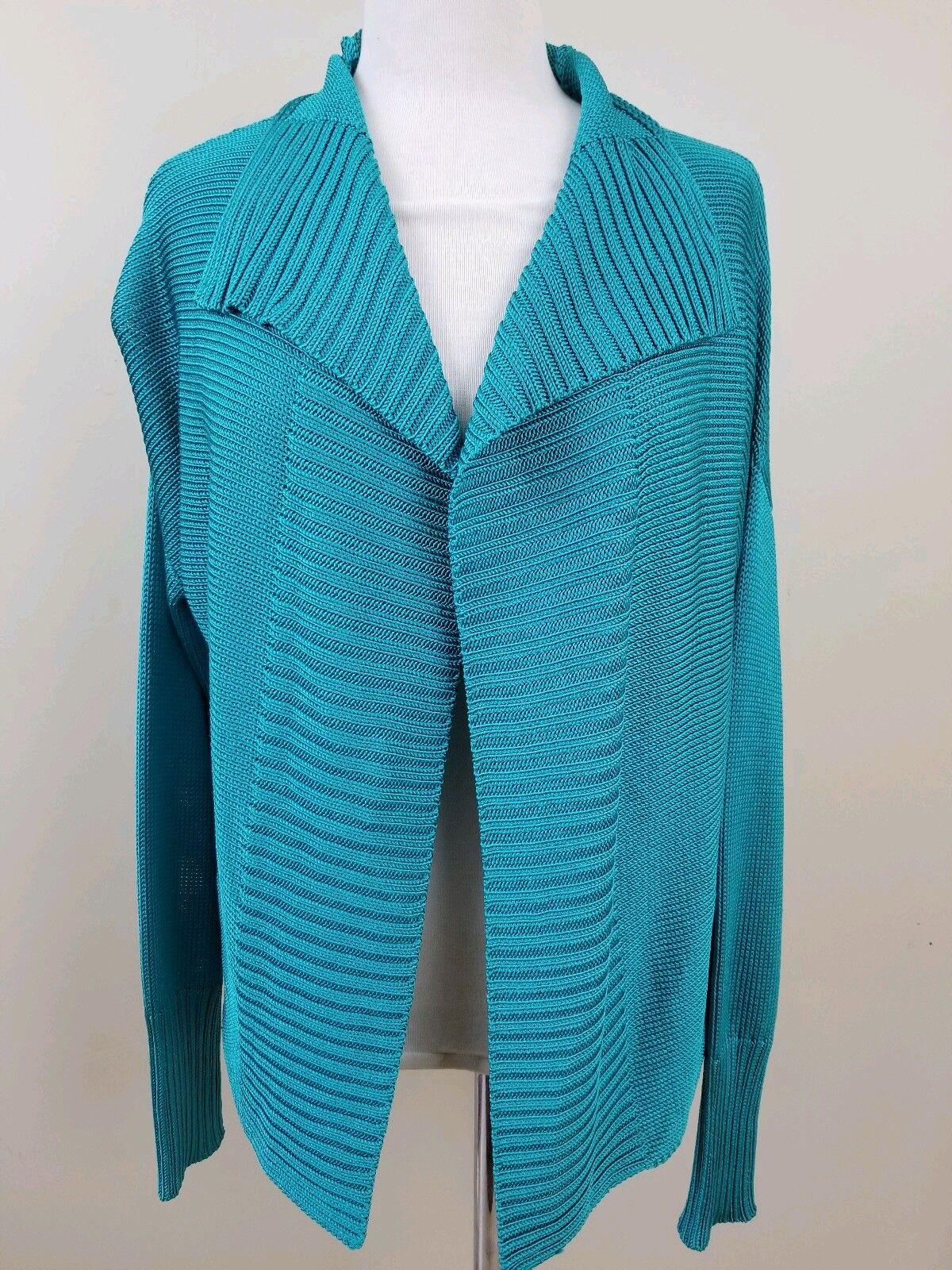 NWT damen schwarz Label Ralph Lauren 100% silk Teal Grün sz L sweater shirt