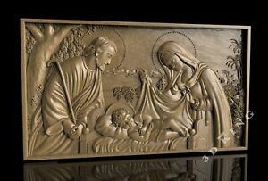 STL 3D Model CHRISTMAS OF JESUS for CNC Router 3D Print Engraver Carving Aspire