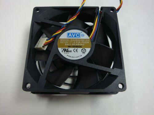2pcs AVC DA08025B12U P008 DC12V 0.35A 8025 8CM 80mm 80x80x25mm 4Pin Cooling Fan