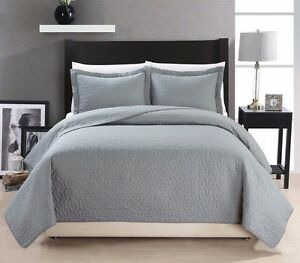 Chezmoi-Collection-Cotton-Quilted-Bedspread-Coverlet-3-piece-Queen-Set-Grey