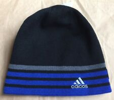 74e41e232ae14 ADIDAS Beanie HAT ONE SIZE New Young Men   Youth Reversible Climawarm Black  Blue