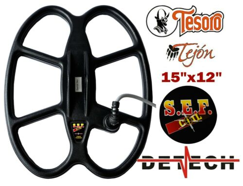 Butterfly Waterproof Search Coil For Tesoro Tejon Detector DETECH 15×12″ S.E.F