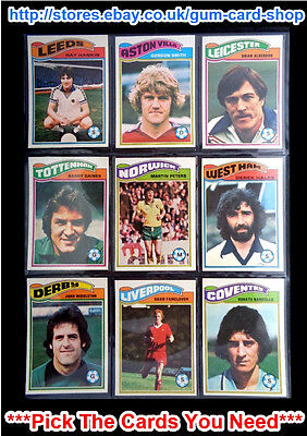 *PLEASE CHOOSE CARDS* VG TOPPS 1978 FOOTBALL ORANGE BACK CARDS 271 TO 324