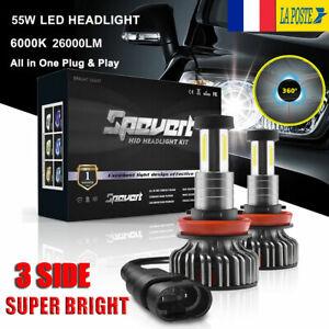 360-110W-H8-H9-H11-Voiture-LED-Ampoule-Phare-Feux-Lampe-Kit-30000LM-6000K-Blanc