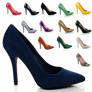 Date-Classic-High-Heel-Pointed-Pointy-Toe-Dress-Plain-Pump-Women-New-Shoes