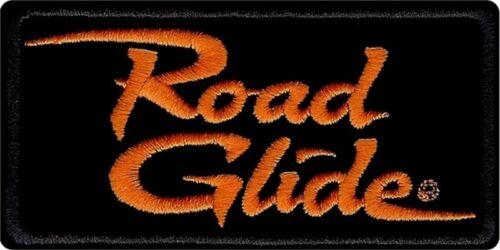 """Harley Davidson Orange /& Black /""""Road Glide/"""" Emblem Patch 4/""""x2/"""" EM1056642"""