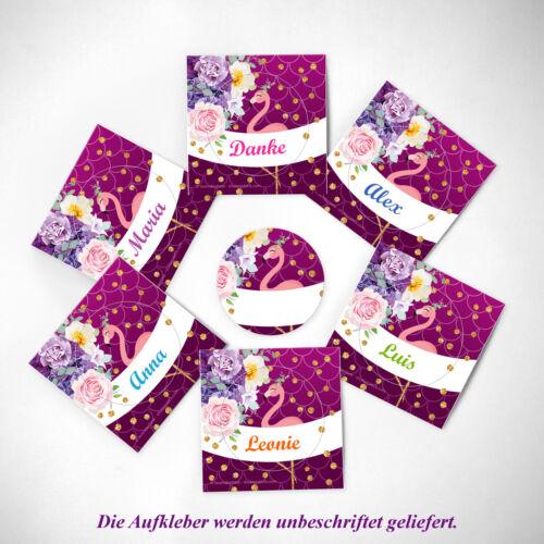 Einladungskarten 10 zehnte Kinder Geburtstag Flamingo Umschläge Geschenktüten