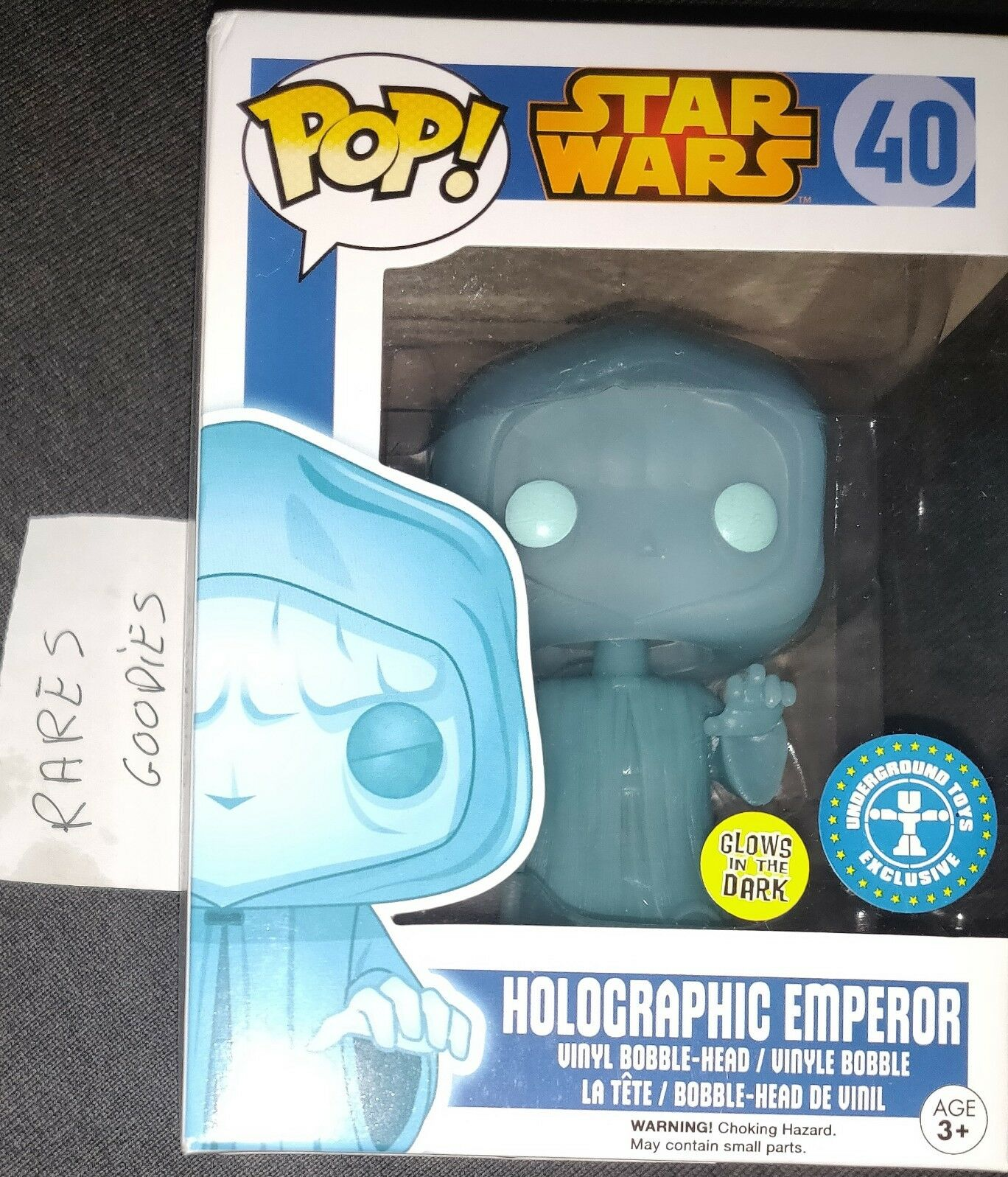 Funko Pop Star Wars Holographic Emperor Palpatine Glow In The Dark 40 LE