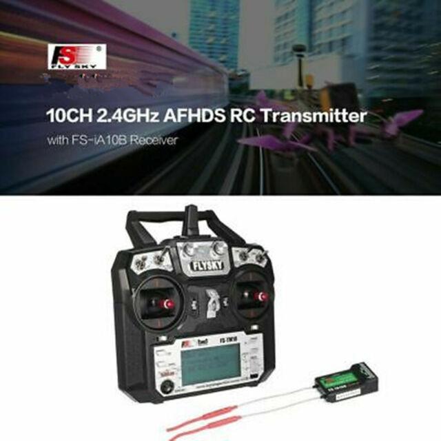 FLYSKY FS-TM10 10CH 2.4GHz AFHDS 2A Fernbedienung Sender mit Empfänger