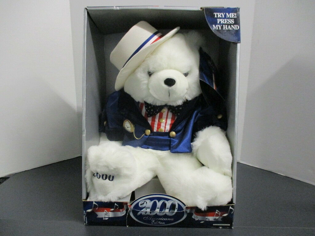 2000 Weiß Millenial Bear, Still Sings, In Box with Tag, Box shows signs of wear