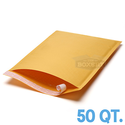 """50 #6 12.5x19 Kraft Paper Bubble Padded Envelopes Mailers Case 12.5/""""x19/"""""""