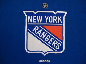 Nhl New York Ny Rangers National Hockey League Fan Reebok Blue T