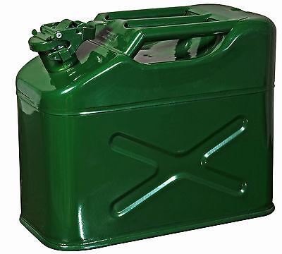 10 LITRE JERRY CAN METAL DIESEL OIL FUEL TRANSPORT PETROL 3 bar handle not 1 bar
