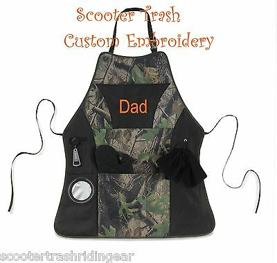 Personalized Monogrammed Chefs Apron embroidered camo oak tree real mossy NEW
