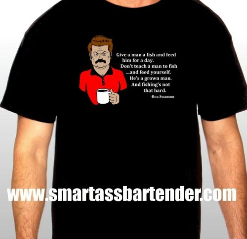"""Ron Swanson /""""Fish/"""" T-shirt *Parks and Rec*"""