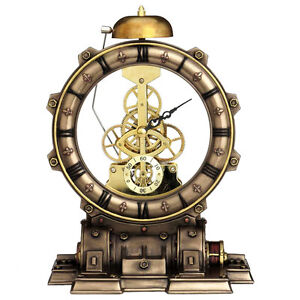 Nemesis-Now-Time-Machine-Clock-Steampunk-Desk-Clock-New-and-Boxed