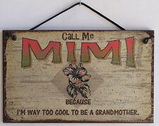 Mimi s Sign Grandma Hibiscus Cool Best Hawaii Sea Flower Tropical Beach Home