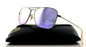 5a46e37b94e NEW Genuine Ray-Ban CARAVAN Bronze Copper Lilac Mirror Sunglasses RB ...