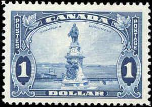Mint-H-Canada-1-00-F-VF-1935-Scott-227-King-George-V-Pictorial-Stamp