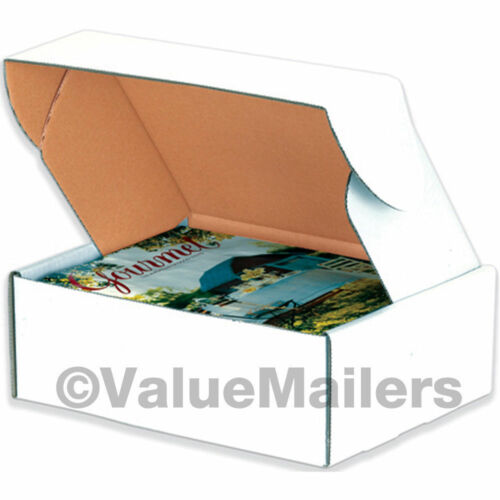 50-11 1//8 x 8 3//4 x 2 White Front Tab Lock Protective Shipping Mailer Box