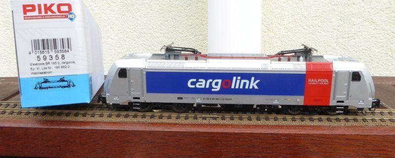 PIKO 59358 elektrolokomotive allestimento interno 185.2 DB AG Cargo link RAILPOOL, AC Digital