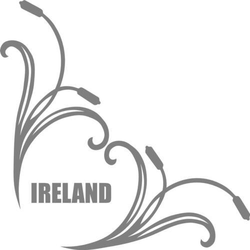 paire BULLRUSH scroll irlandais Irlande Camion Cab autocollants fenêtre