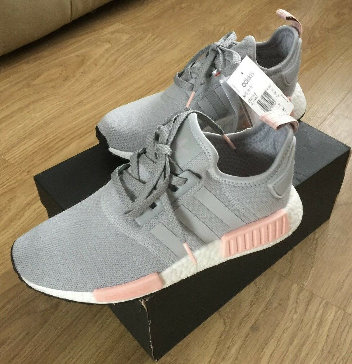 ADIDAS ORIGINALS NMD_R1 RUNNER GREY PINK BY3058 LIMITED STOCK. SIZE