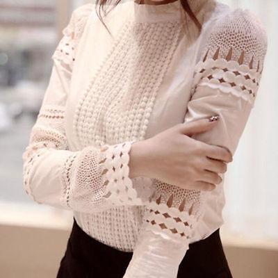 Fashion Women Ladies Summer Loose Casual Cotton  Long Sleeve Shirt Tops Blouse