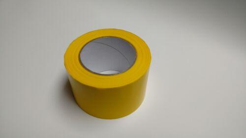 Absperrband 75mm x 100m PE-Folie Flatterband Dekoband gelb