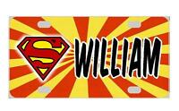 Superman Personalized Kids Mini License Plate Any Name Bicycles Door Sign