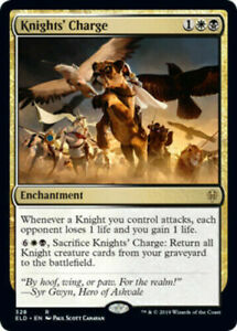 MTG-Knights-039-Charge-Throne-of-Eldraine-RARE-NM-M-Magic-the-Gathering