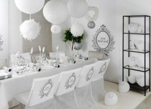 Lampion 20cm 2er Set Just Married Laterne Hochzeit Lampe Hochzeitsfeier Deko